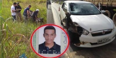 Motociclista de 18 anos morre ao ser atingido por carro na BR-364