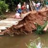 NOVA BRASILÃ'NDIA: Moradores fazem pinguela pra sair do isolamento