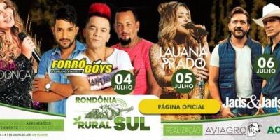 VILHENA: Grandes nomes dos shows sertanejos no palco da Rondônia Rural Sul