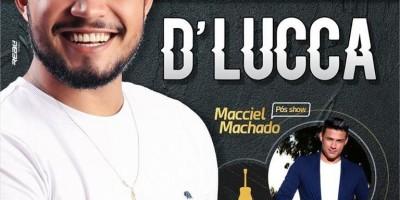 Finas Festa apresenta lançamento do DVD do cantor D'Lucca dia 4 de maio no Parque de...