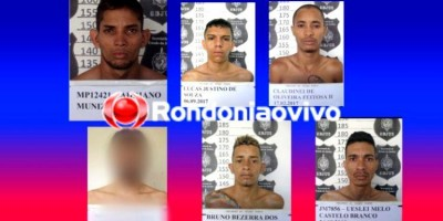 IDENTIFICADOS: Confira nomes e imagens de apenados que fugiram do presídio Ênio Pinheiro