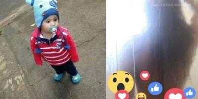 Bebê transmite o banho da mãe ao vivo pelo facebook enquanto brincava com o celular