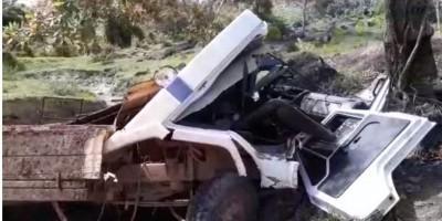 Caminhão boiadeiro perde freio durante descida e fica totalmente destruído após bater...