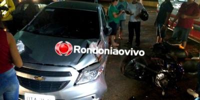 INVADIU: Motociclista fica em estado grave após colisão entre três veículos
