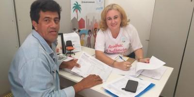 ROLIM DE MOURA: Secretária de Assistência Social recebe presidente da Adagrim