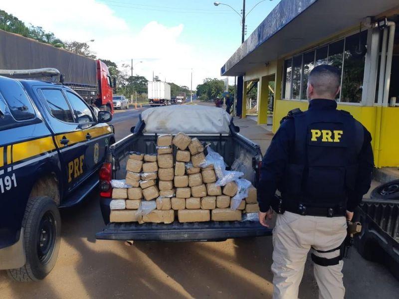 JI PARANA - Homem é preso transportando mais de 48 kg de