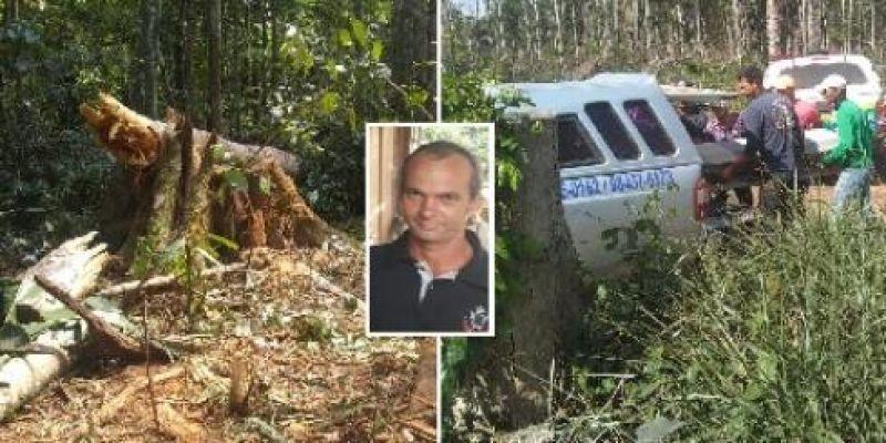 Homem morre esmagado por árvore durante derrubada em Rondônia