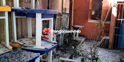 INCÊNDIO: Escola pública pega fogo na região Central de Porto Velho e causa pânico
