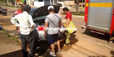 SINISTRO: Automóvel pega fogo em Avenida na região Central de Porto Velho