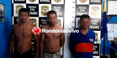 ENTERRADA: Trio com mais de 100 anos de cadeia para cumprir é preso com 15 Kg de droga
