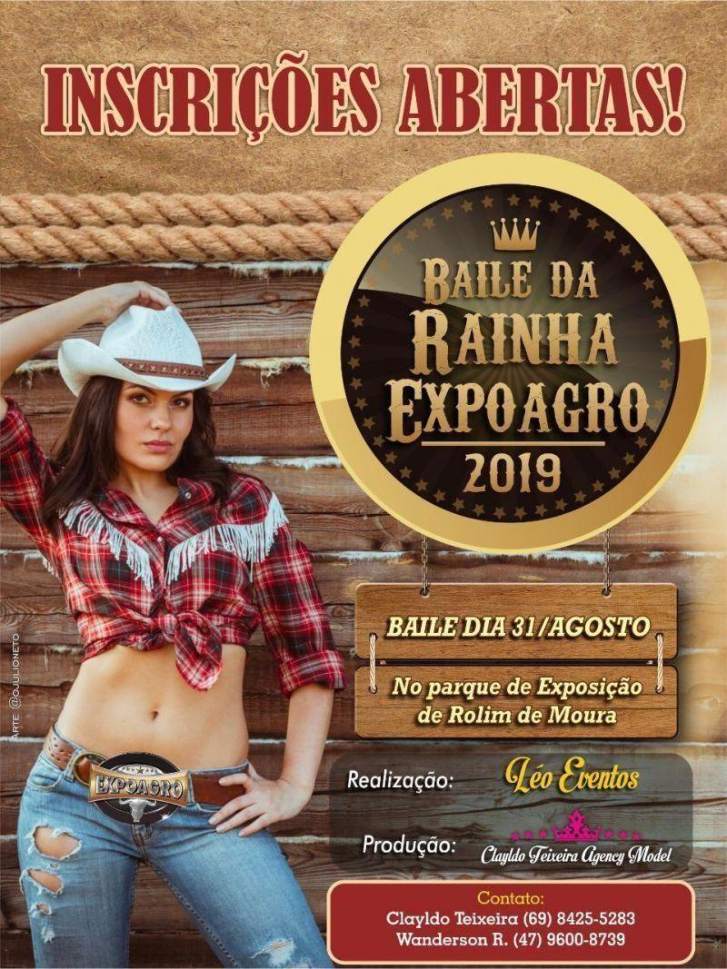 Expoagro: Baile da Rainha será dia 31 de agosto