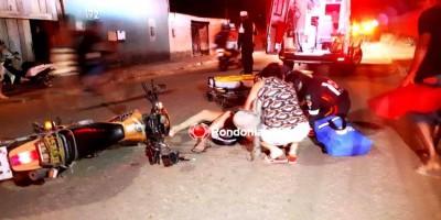 COLISÃO FRONTAL: Mulher sofre fratura exposta em mais um grave acidente com motociclista...