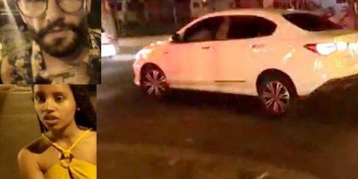VÍDEO: Wagner pega carro da ex-BBB Gleici e atropela ciclista no Acre