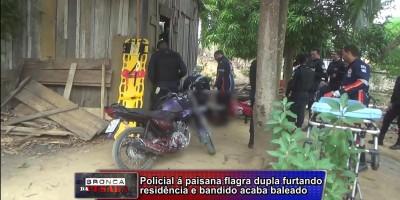 Ladrão de residencia é baleado nas nádegas em Ariquemes