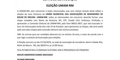 EDITAL DE CONVOCAÇÃO - UMAM