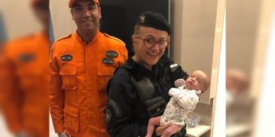 No DF, sargento da PM salva recém-nascido que estava engasgado