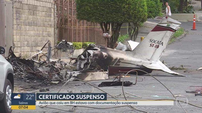 Operador de avião que caiu em BH está com 50% do corpo queimado