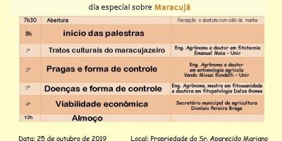 ROLIM DE MOURA: Prefeitura realizará Dia Especial sobre o cultivo do Maracujá