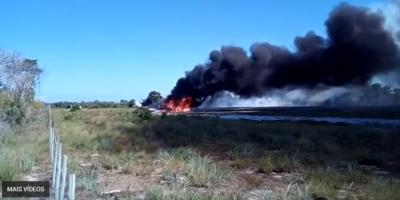 VÍDEO: Avião cai em aeroporto de resort em Maraú, na Bahia
