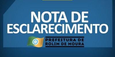 Prefeitura Rolim de Moura esclarece sobre Fake News publicada nas redes sociais sobre a...