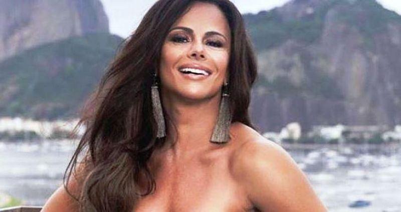 Viviane Araújo bota o bumbum para jogo e provoca fãs