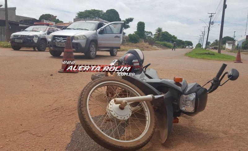 Acidente de trânsito no Bairro Boa Esperança resulta em uma pessoa ferida em Rolim