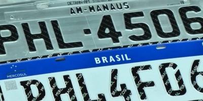Placa Mercosul é mais cara em RO que em outros estados