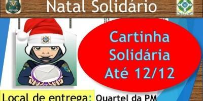 Policia Militar de Rolim de Moura lança campanha Natal Solidário