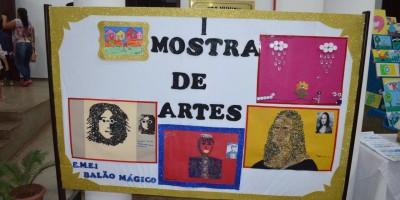 ROLIM DE MOURA: Escola Balão Mágico realiza  primeira mostra e leilão de artes