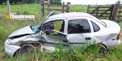Técnica de enfermagem sofre grave acidente de trânsito na RO 133 em Theobroma