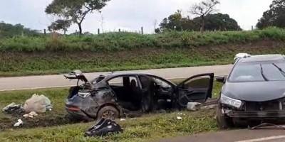 Vídeo mostra momento exato de acidente que matou dois na BR-060