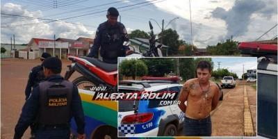 Em ação rápida, PM prende suspeito e moto roubada com auxílio das câmeras de...