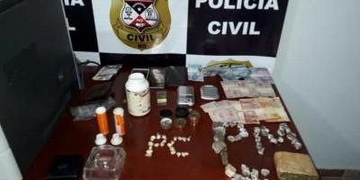 PC e PM realizam busca em Alto Alegre dos Parecis e fecha boca de fumo