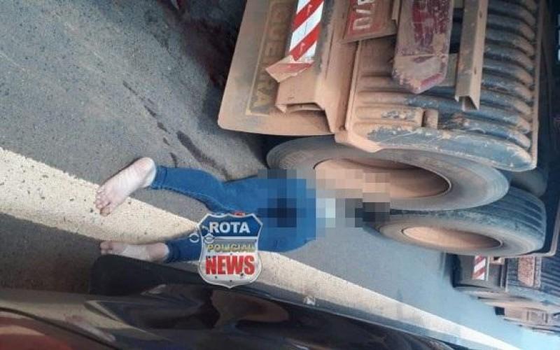 Atualização: Mulher morre atropelada após parar para prestar socorro em acidente em Vilhena