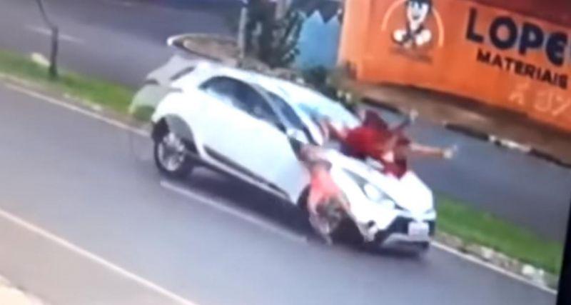 Avó e neta são atropeladas ao atravessar avenida no interior de São Paulo; veja o vídeo