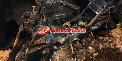 Incêndio criminoso destrói motocicleta em Ji-Paraná; suspeito seria marido da vítima
