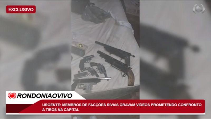 Membros de facções rivais gravam vídeos prometendo confronto a tiros em Porto Velho; veja o vídeo