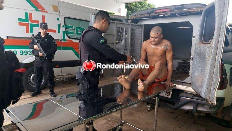 Polícia penal captura foragido de presídio com as duas pernas fraturadas