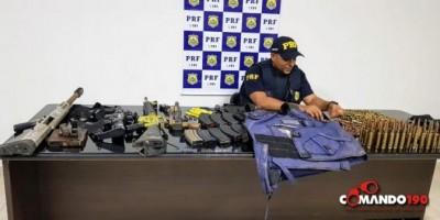 PRF apreende arsenal de guerra e prende dois suspeitos em Ji-Paraná