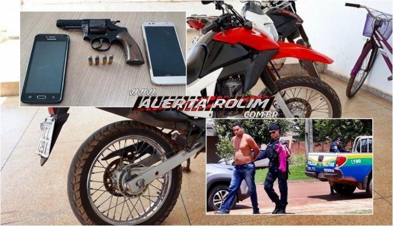 Rolim de Moura: Após roubo de moto, suspeito acaba preso pela PM e veículo é recuperado