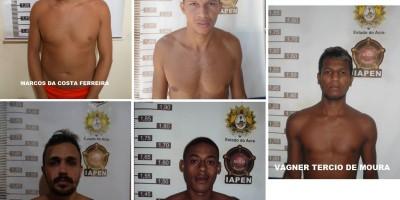 Seis fugitivos são recapturados após fuga de presídio no Acre