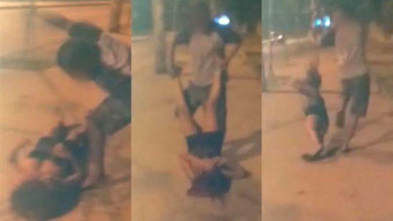 Marido embriagado espanca esposa e arrasta seu rosto no chão