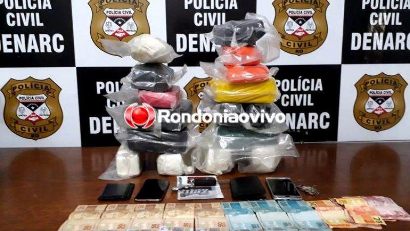 Denarc prende traficantes com mais de 20 quilos de droga em Porto Velho