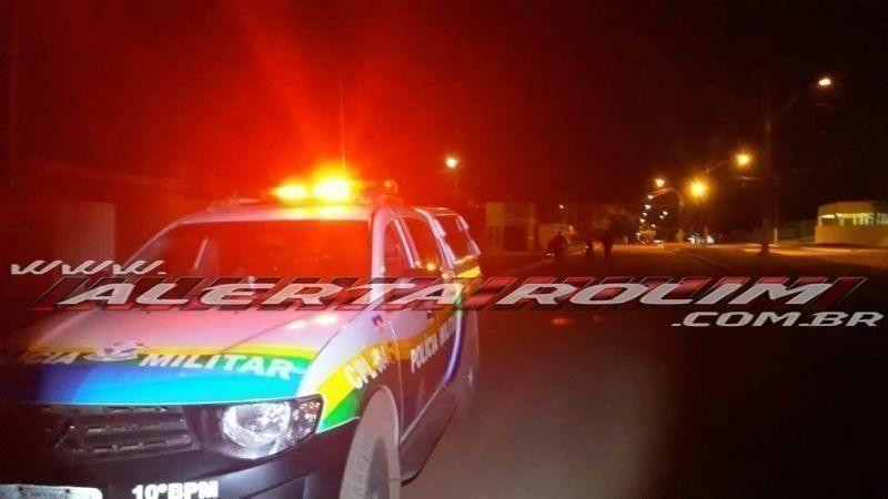 Em Rolim, usuário de drogas é detido pela PM tentando furtar combustível no pátio da secretaria de obras
