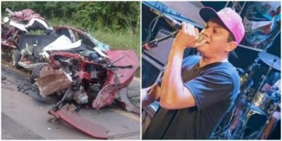 Cantor morre e outras duas pessoas ficam feridas em acidente entre caminhão e Onix no...