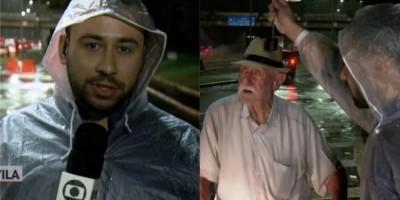 Repórter da Globo que ajudou idoso durante alagamento rebate ataque homofóbico em rede...