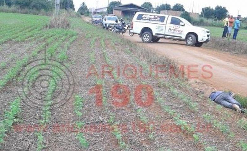Corpo de jovem é encontrado perto de plantação de soja em Alto Paraíso, RO
