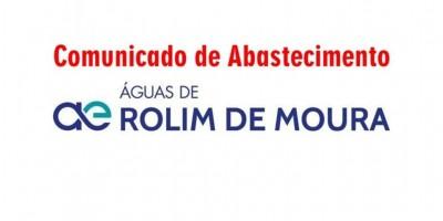 Águas de Rolim informa que abastecimento será prejudicado em alguns bairros de Rolim de...