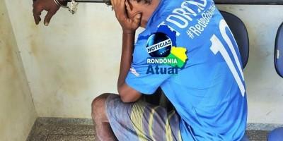 Homem é preso flagrado jogando drogas e celulares dentro de presídio em Ji-Paraná