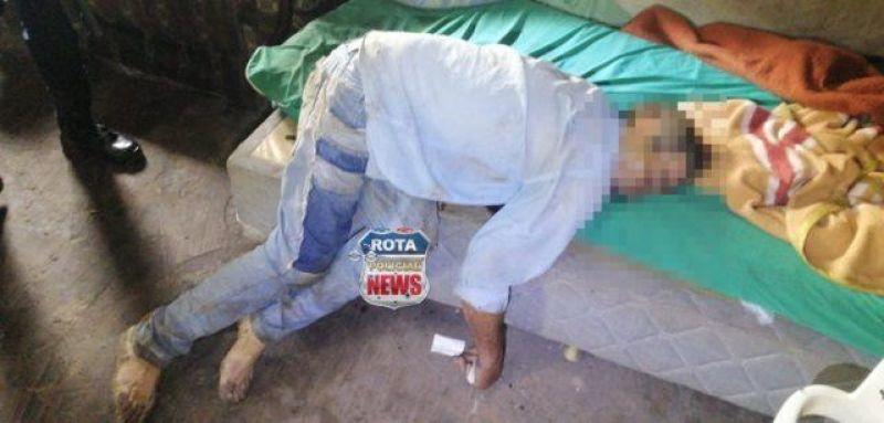 Populares encontram corpo de homem com perfuração de tiro no peito na área rural de Vilhena